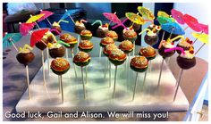 Cheeseburger in Paradise themed going away party
