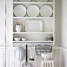 White delicates in the kitchen (via loppisliv)