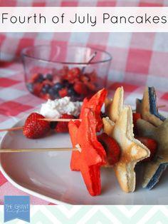 Fourth of July Pancakes via thegrantlife.com