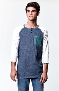 McGuire 3/4 Sleeve Raglan T-Shirt Raglan Tee, Pacsun, Overalls, Tees, Sleeves, Mens Tops, T Shirt, Pants, Country Life
