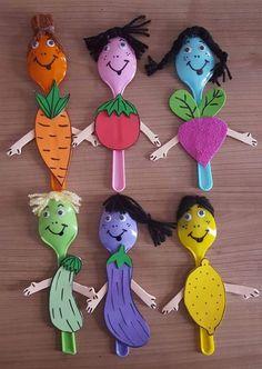 Spoon craft for kids Kids Crafts, Daycare Crafts, Preschool Crafts, Projects For Kids, Easy Crafts, Diy And Crafts, Arts And Crafts, Paper Crafts, Art N Craft