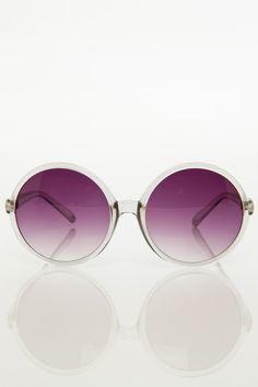 Round Sunglasses in Grey / ShopSosie #grey #sunglasses #accessories #essentials #shopsosie