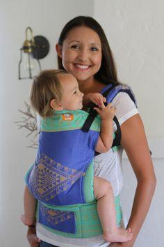 (Standard Size) Half Wrap Conversion Tula Baby Carrier - Oscha Teo Aztlan