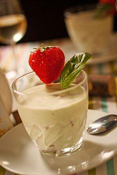 Erdbeer - Basilikum - Creme