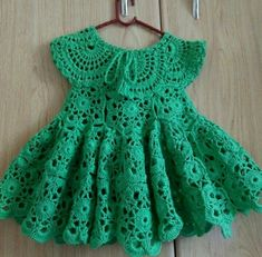 Crochet Girls, Crochet Baby Clothes, Newborn Crochet, Crochet For Kids, Crochet Cord, Crochet Quilt, Thread Crochet, Baby Christening Dress, Kids Dress Wear