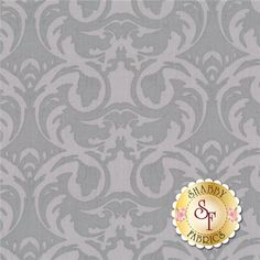 Cotillion 60832-80 by Exclusively Quilters: Cotillion is a black and white collection by Exclusively Quilters. This fabric features a tonal gray damask design on a gray background.