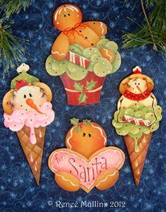 #190 Sweet Treat Ornaments   (Pattern Packet)    Wood Kits Available  www.plumpurdy.com