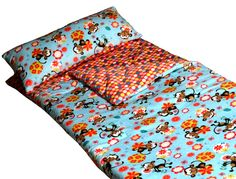 Monkey and dots sleeping bag by Cricketzzz.