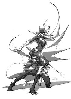 Robin and Batgirl........