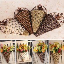 Rattan vaso de flores artificiais plantas de parede decoração de parede jardim festa de casamento mesa decoração presente 1111(China (Mainland))