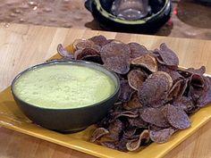 Peruvian Purple Potato Chips with Cilantro Aioli Recipe : Emeril Lagasse : Food Network Food Network Recipes, Food Processor Recipes, Cooking Recipes, Healthy Cooking, Healthy Eating, Aioli Recipe, Purple Potatoes, Peruvian Recipes, Chips Recipe