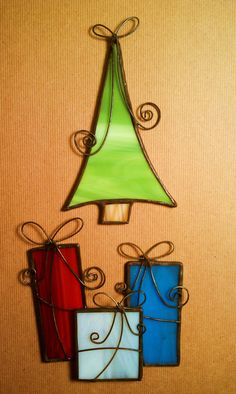 Stained Glass Christmas Ornaments                                                                                                                                                     More #StainedGlassBox