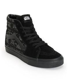 VANS x STAR WARS Sk8-Hi Mens Shoes (NEW) Darth Vader Storm DARK SIDE
