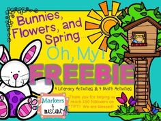 Spring FREEBIE! Four reading and four math activities!