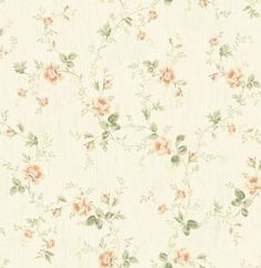 One Allium Way Leela Rose Vines L x W Wallpaper Roll Colour: Cream/Dark Green/Pink Cream Wallpaper, Classic Wallpaper, Wallpaper Roll, Pattern Wallpaper, Vintage Wallpaper Patterns, Cottage Wallpaper, Chic Wallpaper, Vintage Floral Backgrounds, Wallpaper Designs