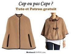 Diy fashion plusieurs idées, tutoriels et patrons gratuits, créer ses vêtements, modèle simple pour débuter en couture, comment faire soi même une cape, poncho, manteau automne hiver ?