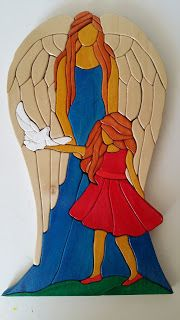 intarsia The Guardian Angel