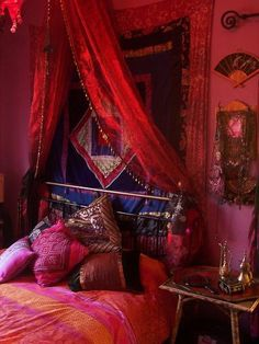 Dramatic and luxurious! Take a look at www.bringingitallbackhome.co.uk for Indian crafts, furniture and textiles...