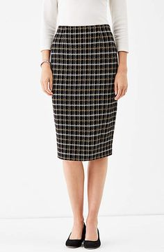 Image for Ponte Knit Pencil Skirt                                                                                                          from JJill