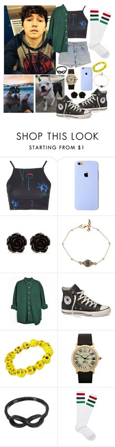 """""""Hanging out with Jc, Wishbone & your dog"""" by freedom2095 ❤ liked on Polyvore featuring Penny, Motel, Levi's, Erica Lyons, Rachel Rachel Roy, Converse, Zone and Gucci"""