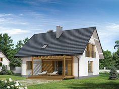 ​A super low-budget family house Round House Plans, Small House Plans, Style At Home, Prefab Homes, Design Case, Freundlich, Architect Design, Simple House, Home Fashion