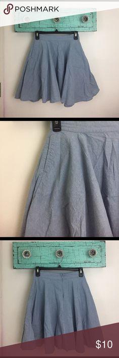 light denim skirt Light denim skirt with pockets and zipper on the back Derek Heart Skirts Circle & Skater