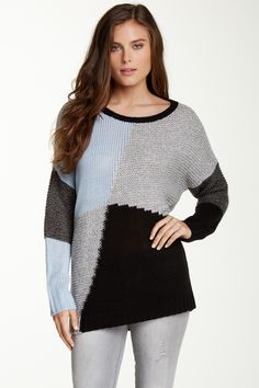 Romeo & Juliet Couture | Romeo & Juliet Colorblock Sweater | Nordstrom Rack