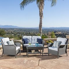 Haiden Patio Furniture 4 Piece Outdoor Wicker Conversatio... https://www.amazon.com/dp/B06XPSPNMD/ref=cm_sw_r_pi_dp_x_yJd8ybAVVFAAE