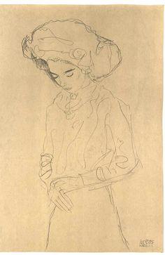 Gustav Klimt drawing