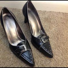 Franco Sarto heels Franco Sarto black heels. Vintage style. About 3 inch. Franco Sarto Shoes Heels