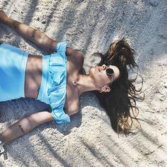 Del paraiso al cielo con mi precioso bikini #dulceidaxaguita @aguita_swimwear #viveahoradesalia @riumbaumarta by dulceida