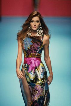 Carla Bruni, in Christian Lacroix, spring–summer 1995. Photographed by Graziano Ferrari, whom we feature today in Lucire.