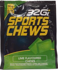 32GI Chews 50g Lime