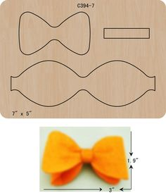 New BOW Wooden die Scrapbooking Cutting DiesThe thickness is and is compatible with most leading machines. Making Hair Bows, Diy Hair Bows, Diy Bow, Hair Ribbons, Ribbon Bows, Christmas Headpiece, Bow Template, Felt Hair Clips, Bow Tutorial