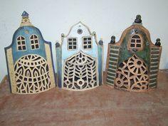 Kitsch, Ceramic Workshop, Ceramic Houses, Miniature Houses, Little Houses, Lanterns, Miniatures, Pottery, Illustration