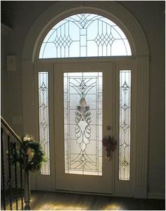 Residential Home Leaded Glass Windows, Doors by Llorens Leaded Art Glass and… Stained Glass Mirror, Leaded Glass Windows, Glass Panels, Glass Design, Door Design, House Design, Glass Front Door, Glass Doors, Stained Glass Patterns