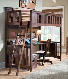 Loft beds are great space savers for any room especially for children. Loft beds are available in different design and colors at aBaby. Bed Desk, Bed Design, Home, Bed With Desk Underneath, Bed, Loft Spaces, Modern Loft Bed, Loft Bunk Beds, Kids Loft Beds