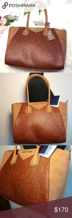 "XLarge Beautif Basket Weave Tote Handbag Adrienne Vittadini  ""The Give Me Collection"" Large/XLarge Satchel Purse Cognac  $190 NWT  Color Natural/Cognac   Beautiful Basket Weave Design  Large Main Compartment  Organizational Features  Adjustable Shoulder Strap  Cell Phone Pocket  Thank you for Looking & Sharing Happy Poshing😄💗 Adrienne Vittadini Bags Satchels"