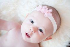 SAVE 15% Baby Headbands Newborn Headband.Baby Girl Headband.Baby Bow Headbands /  FINLEY Flower Headband You Pick Pink Ivory White Silver