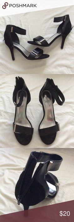 Impo Black ankle strap high heel - size 8.5 Brand: Impo  Size: 8.5  Color: black  Heel height: 4 inches Impo Shoes Heels