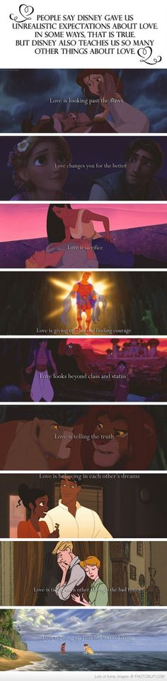 What Disney Taught Us About Love...