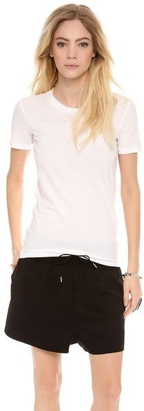 Acne Studios Bliss Generic T Shirt Acne gives an androgynous silhouette a feminine spin, constructing this figure-skimming tee in lightweight jersey. Short, fitted sleeves. Ribbed crew neckline.