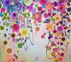 Painting, Flower Art, Leanne Christie, www.leannechristie.co.uk, Devon