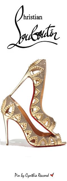 Christian Louboutin Pinder  Gold City Spiked | cynthia reccord