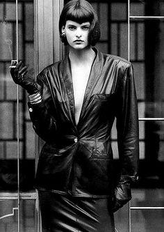 Vogue Paris featuring Linda Evangelista by Alex Chatelain, 1986.