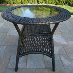 Chateau Living Elite Wicker Round Coffee Table - Coffee by Chateau Living. $144.99. Durable Resin Wicker and Steel Frame Construction. Coffee Color for Years of Beauty. Fade, Chip and Crack Resistant. Stainless Steel or Brass Assembly Hardware. Chateau Living all-weather resin wicker sets are the perfect edition to any setting. Add beauty, style, and functionality to your home, garden, or back yard patio. Ideal for indoors or out, this set is made of all-weath...