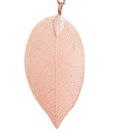 Halsband med lövhänge   Rose guld   Dam   H&M SE