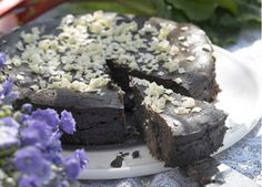 Chokolademarquise med rabarber