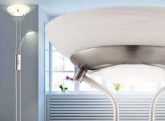 """Ebay: Dimmbare LED-Standleuchte Globo 59022 mit Leselampe für 69,90 Euro http://www.discountfan.de/artikel/technik_und_haushalt/ebay-dimmbare-led-standleuchte-globo-59022-mit-leselampe-fuer-69-90-euro.php Mit dem """"Globo 59022″ ist bei Ebay eine energiesparende und sehr helle LED-Standleuchte mit Leselampe für 69,90 Euro frei Haus zu haben. Discountfan.de hat Stimmen und Details zum dimmbaren Stromsparer zusammengetragen. Ebay: LED-Standleuchte Globo 59022 für"""
