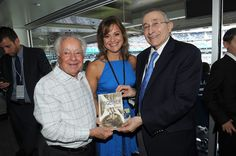 Mark  Schonwetter,  Ann S. Arnold  and Rabbi Marvin Hier attends the 911 Yankees Event: Simon Wiesenthal Participation at Yankee Stadium on September 11, 2016 in New York City.